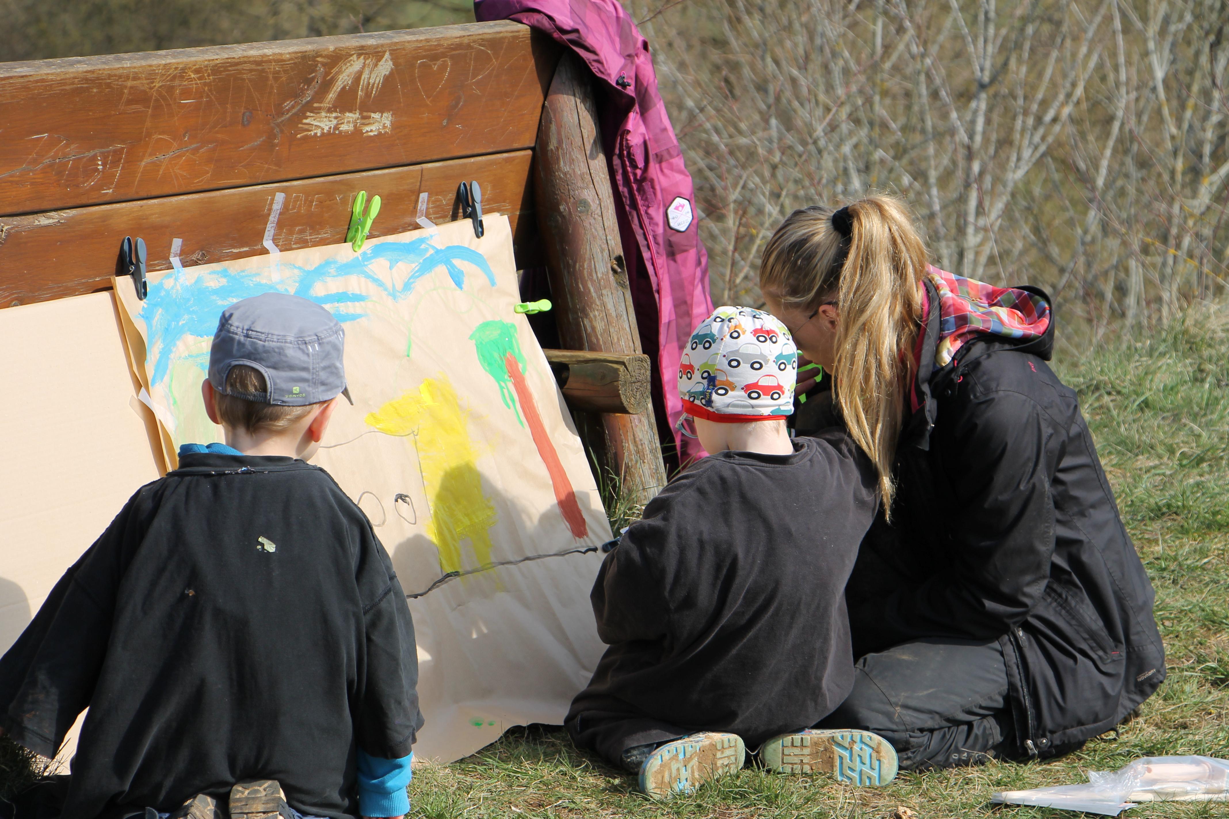 Peinture en Forêt